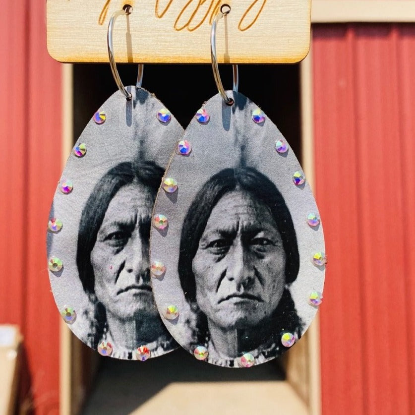 Native Legend Leather Earrings