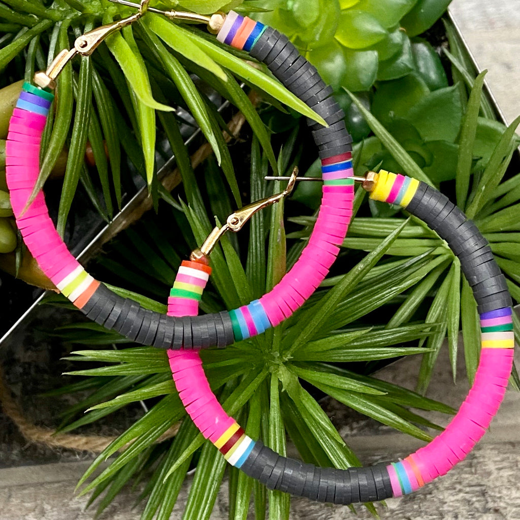 Pink Rio Hoop Earrings