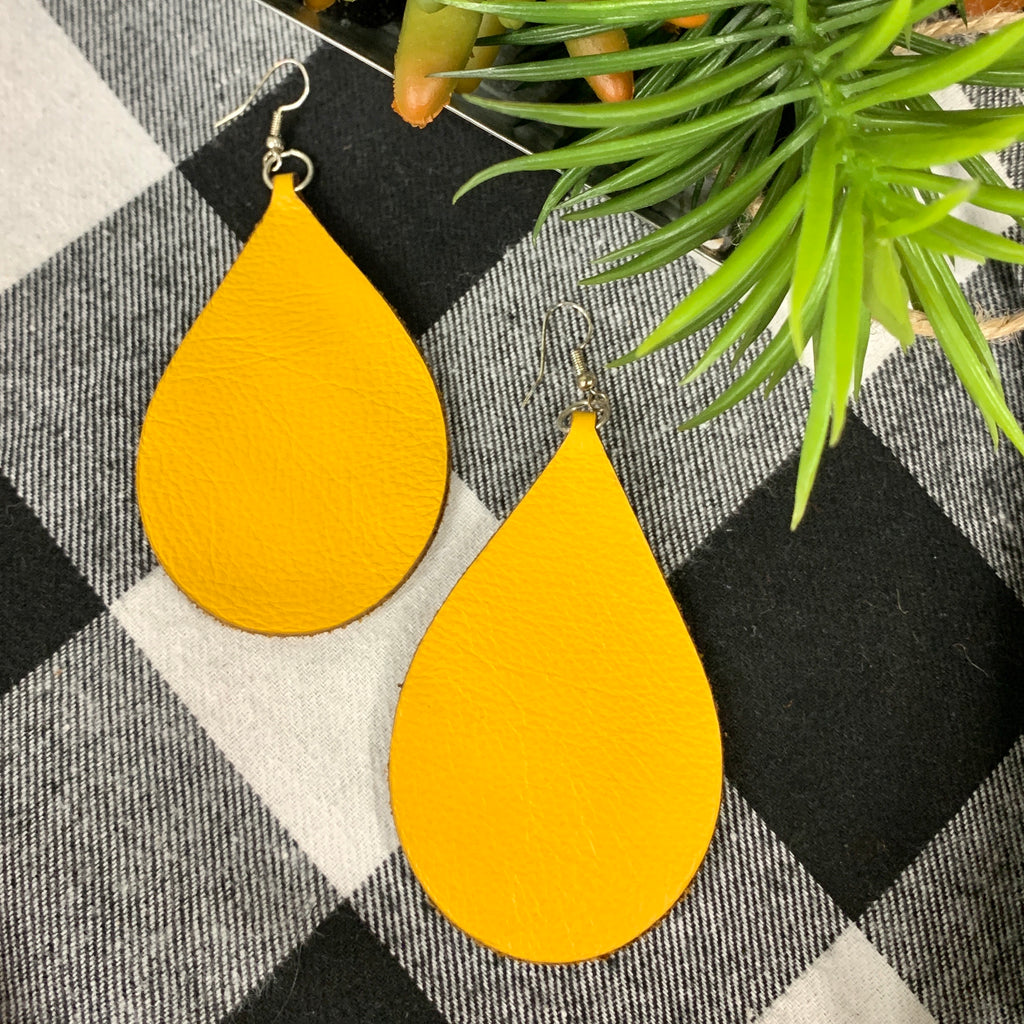 Pocket of Sunshine Leather Earrings