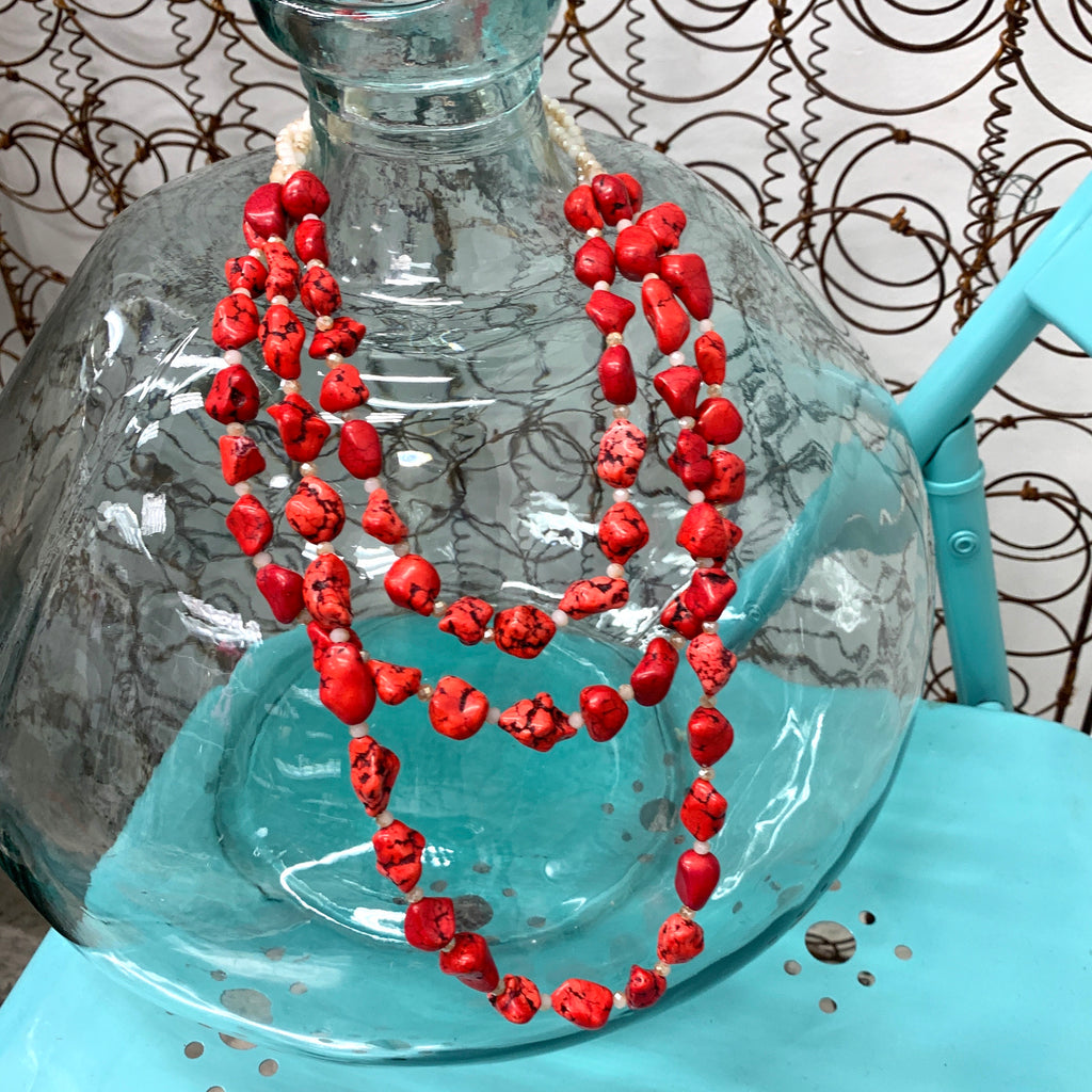 Three's Company Red Stone Necklace