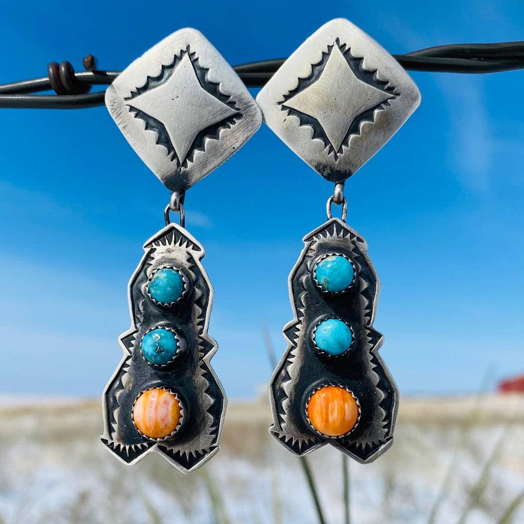Shawn's Navajo Handcrafted Sterling Earring