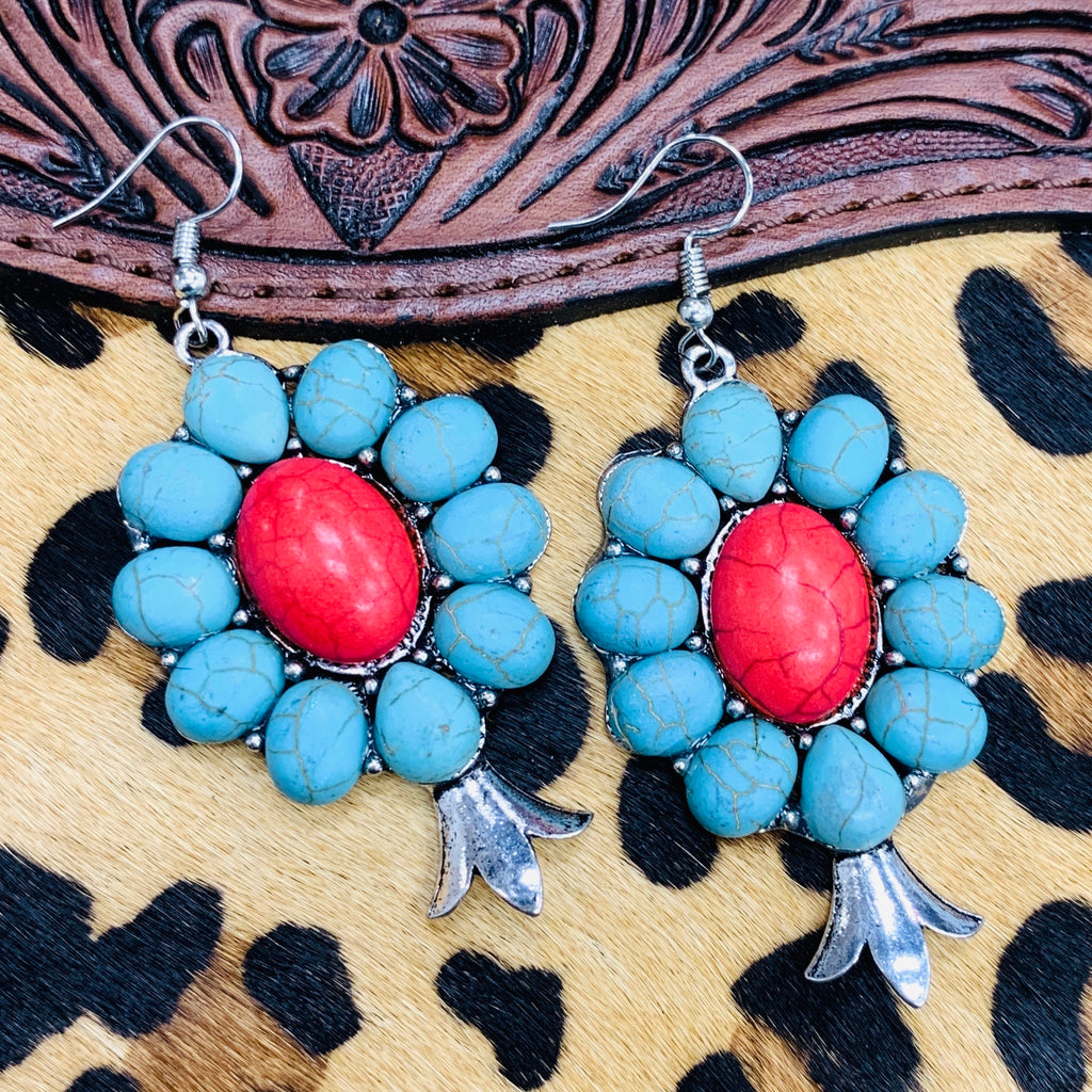 Freedom Squash Blossom Earrings