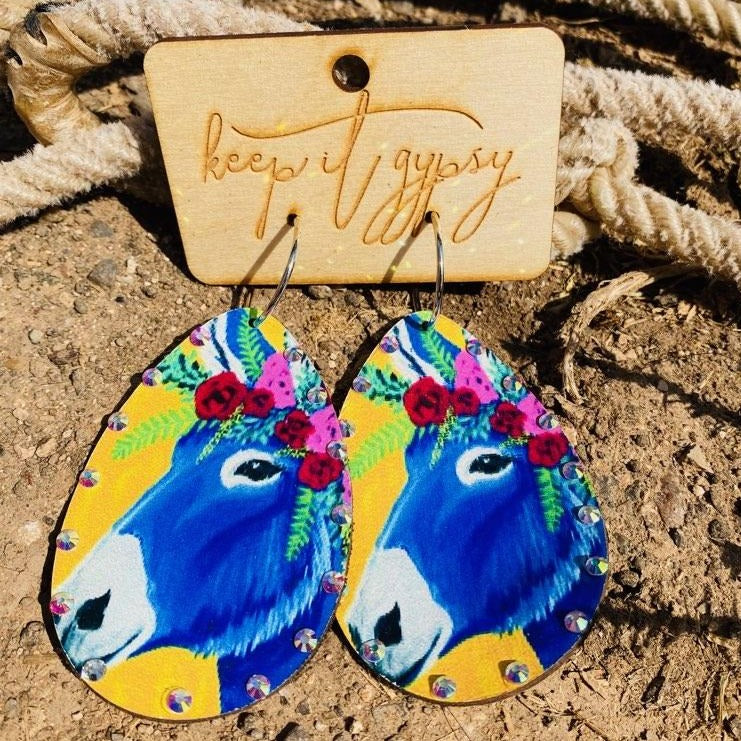 Sommar Festival Leather Earrings