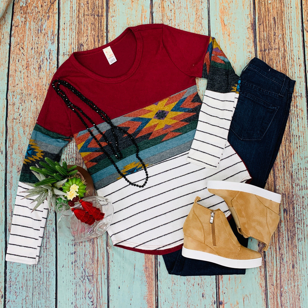 Three Musketeers Colorblock Top