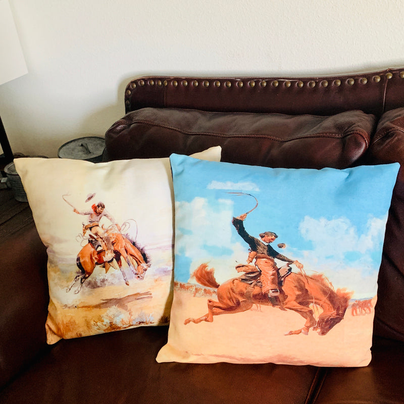 Old Town Roping Pillows