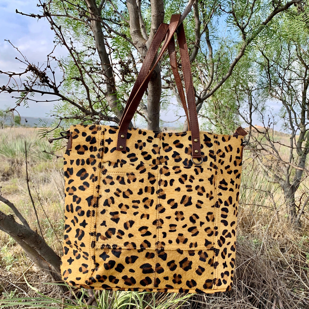 American Cheetah Cowhide Bag