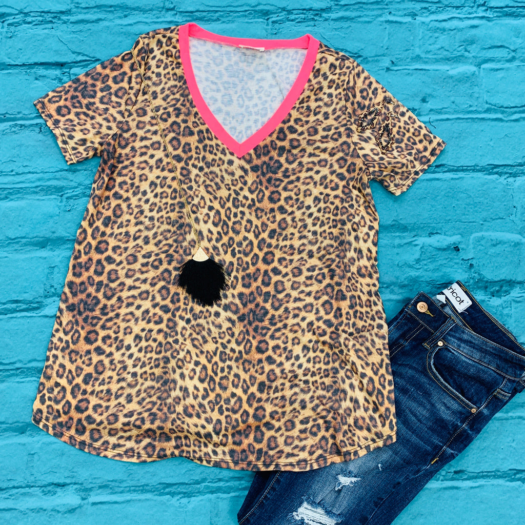 The Neon To My Leopard Top