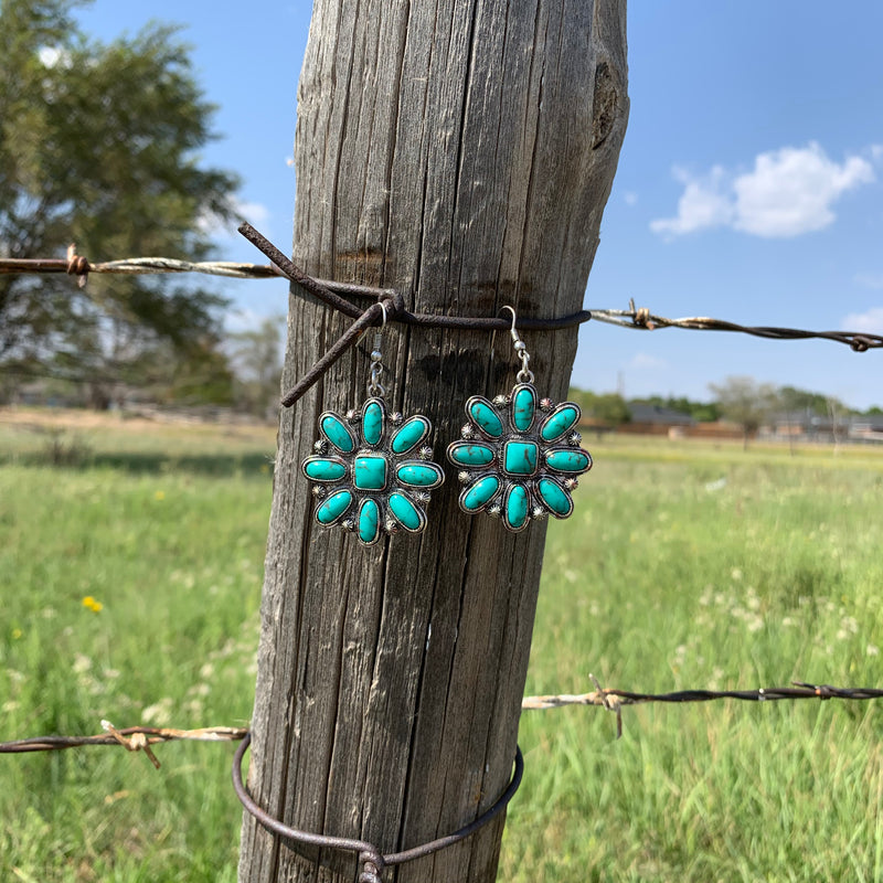 Turquoise Dandelion Earrings