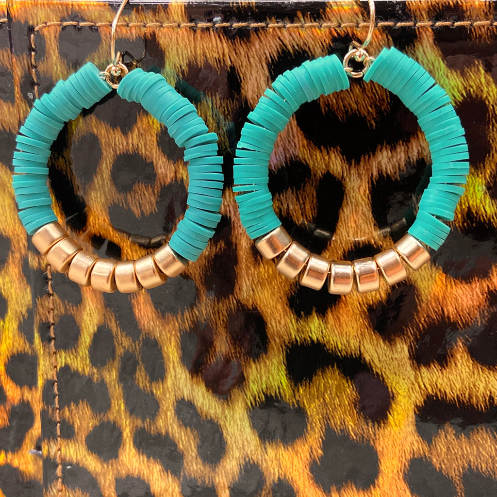 Gilded Mint Hoop Earrings