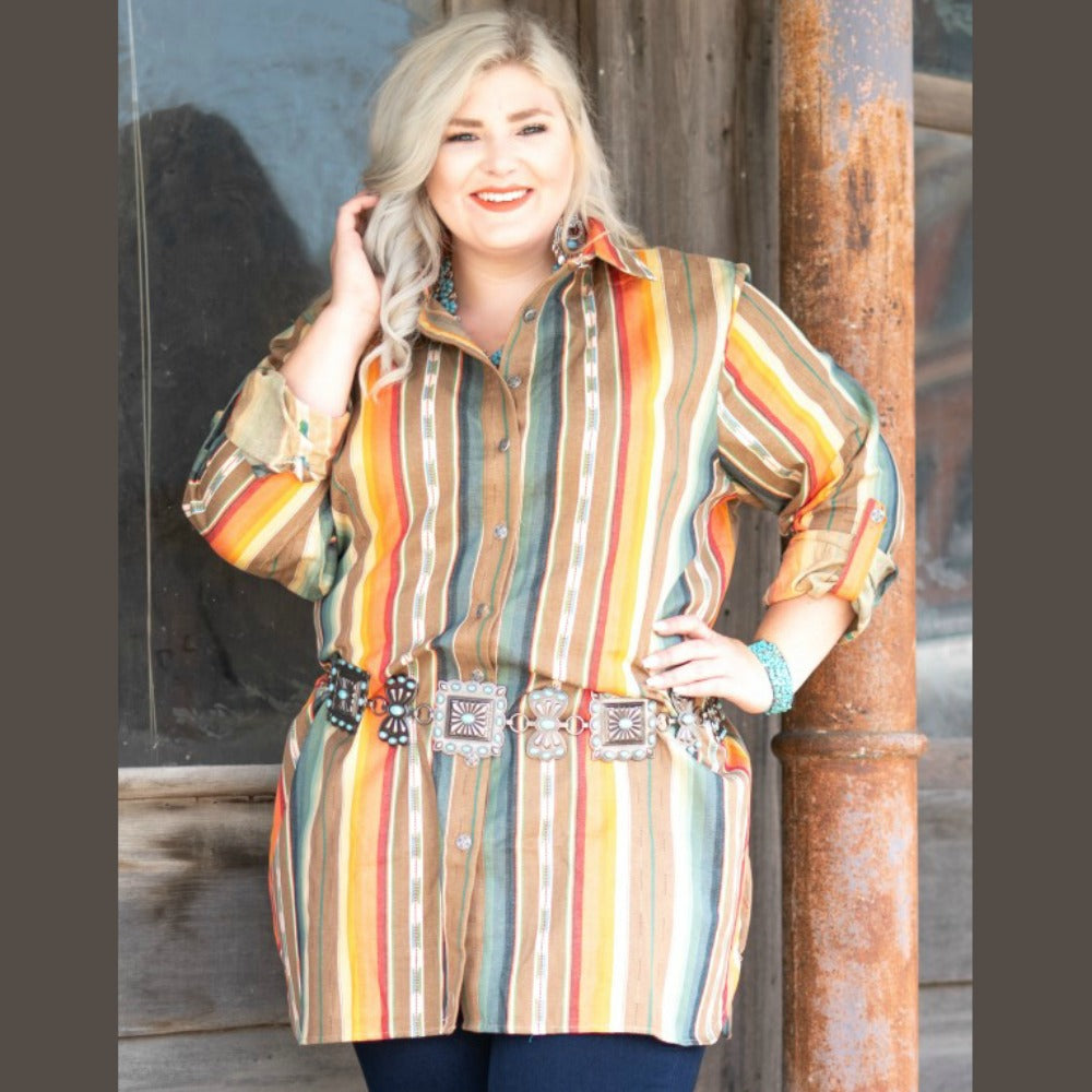 Plus Sand Serape Tunic