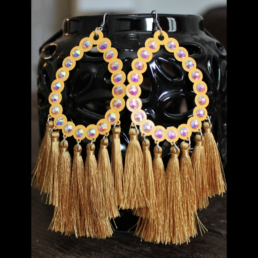 All American Mustard Fringe Earring