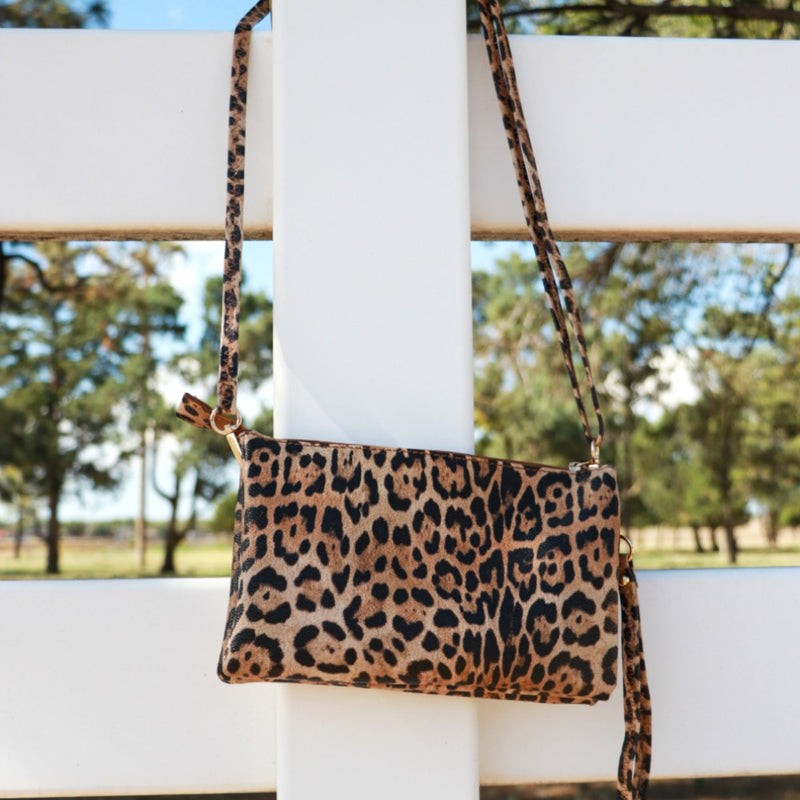 Multitasker Leopard Crossbody