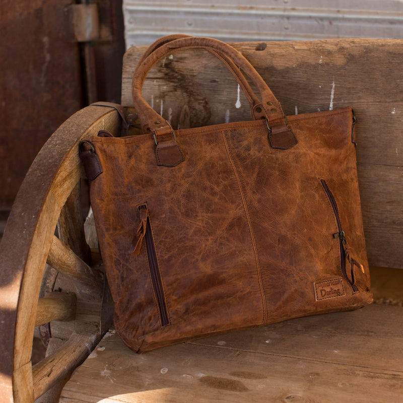 Penelope's Classic Tooled Leather Bag