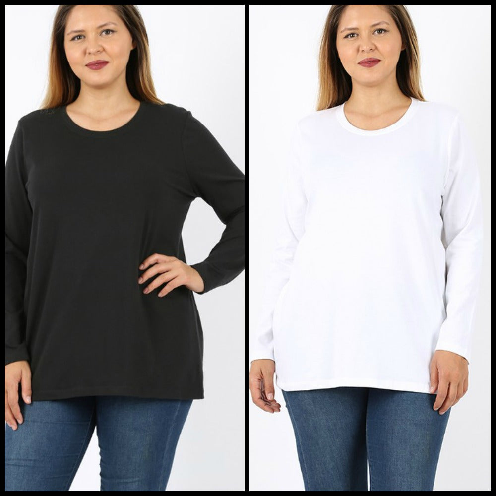 PLUS Basic Long Sleeve Top
