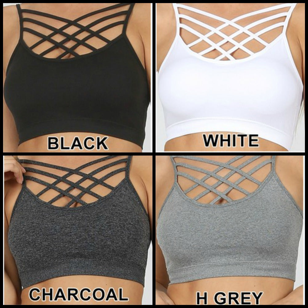 PLUS Seamless Triple Cross Bralette
