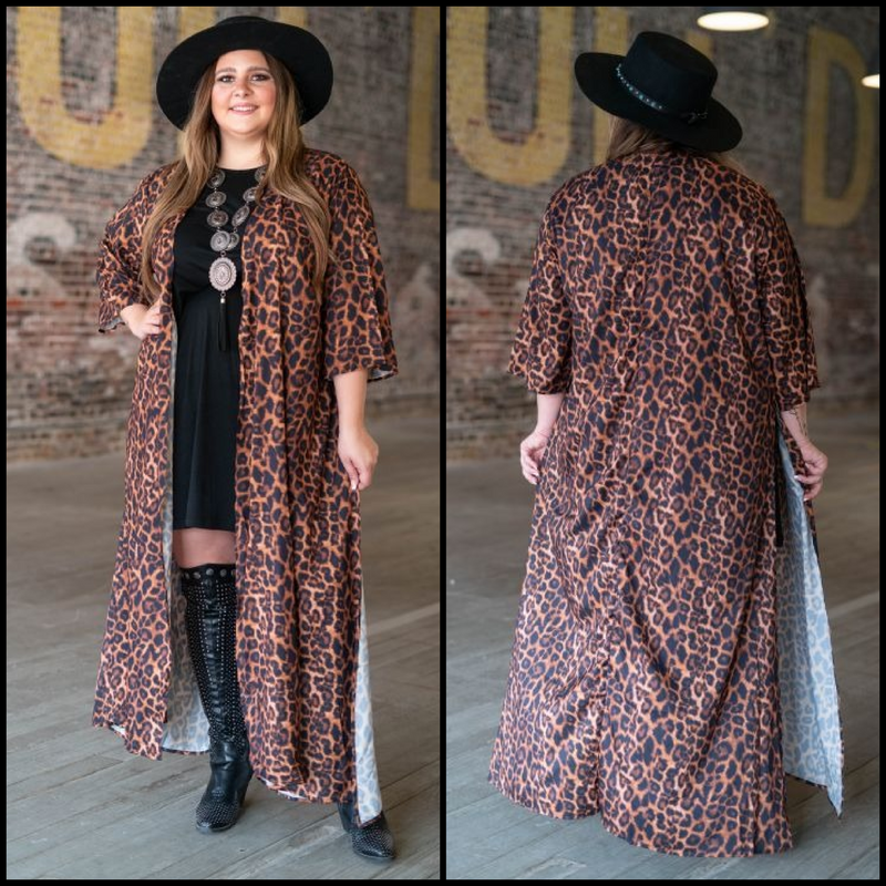 Plus From The Hip Leopard Duster