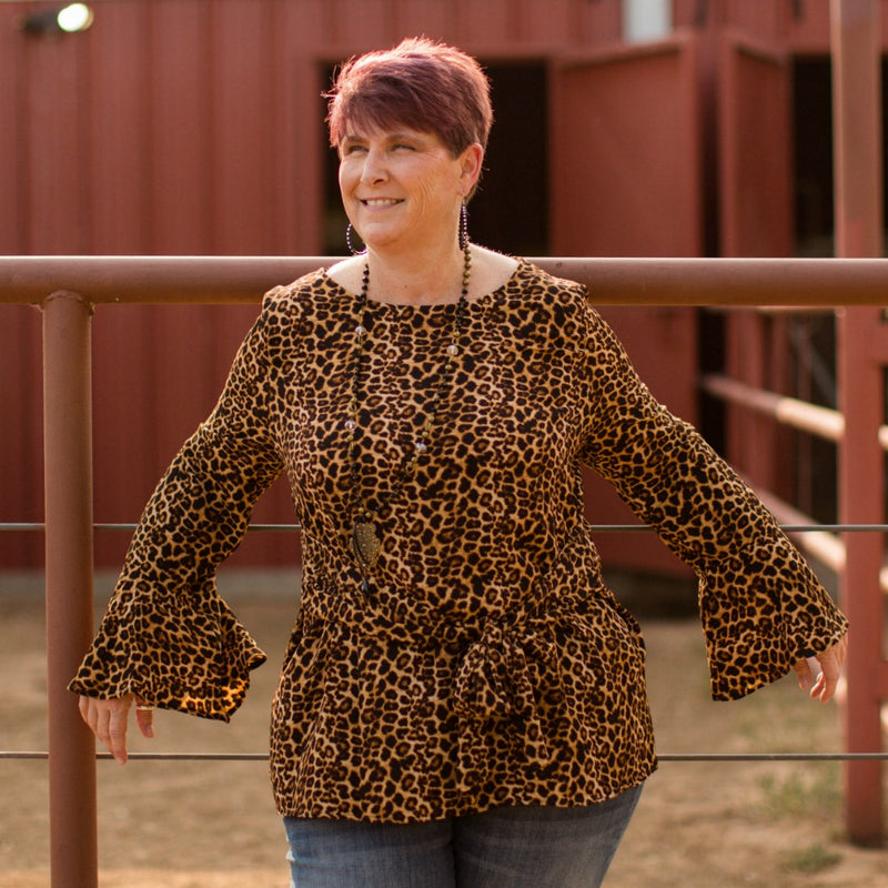 Plus Pampered Leopard Blouse