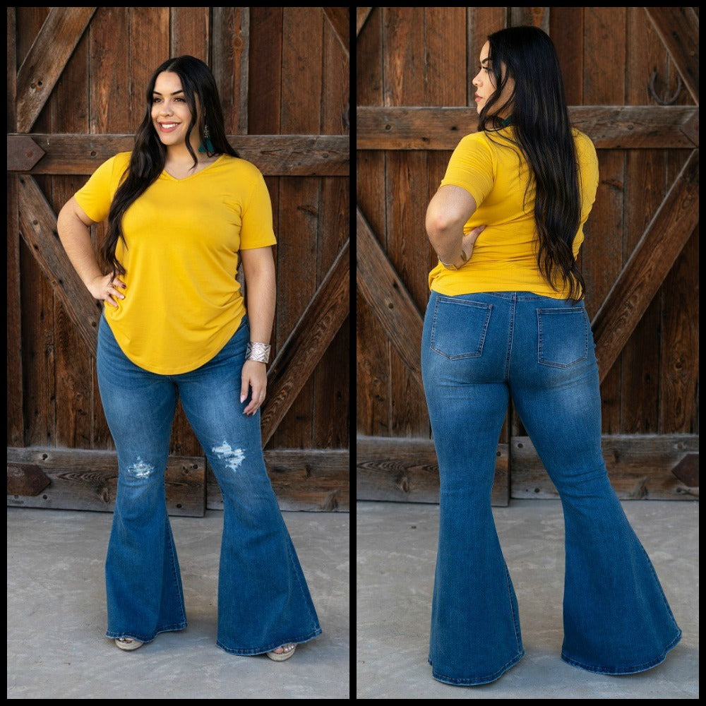 Plus Spotlight Bell Bottom Jeans