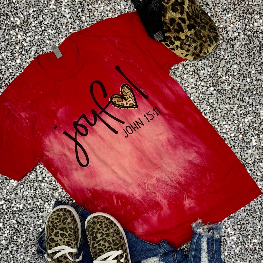 Red Joyful Heart Tee