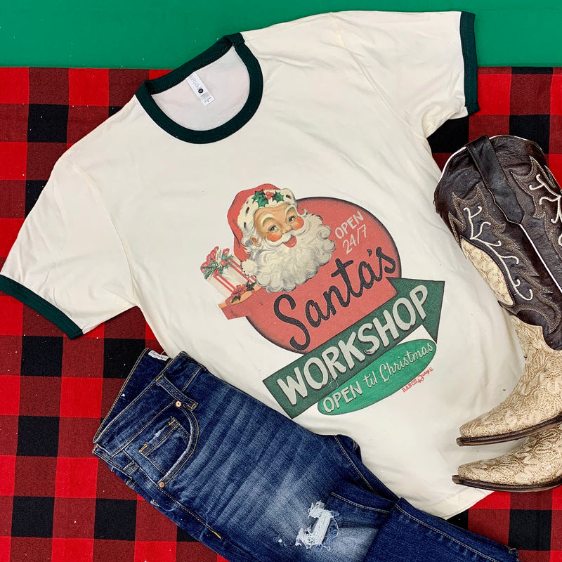 Plus Santa's Workshop Tee