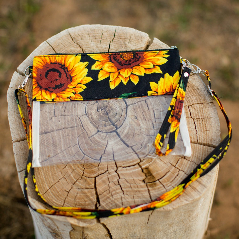 Sunflower Daze Clear Crossbody