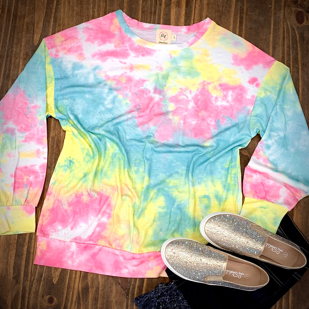 Plus Totally Chill Tie Dye Top