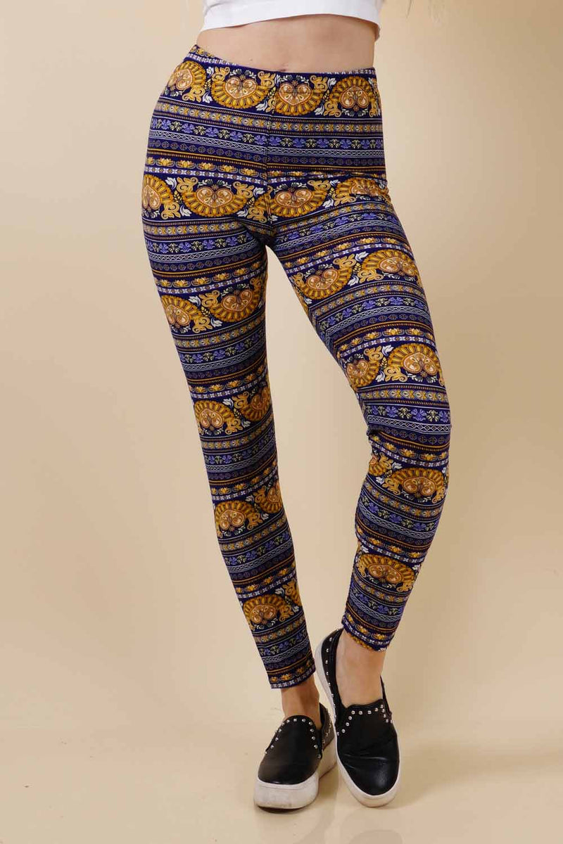 Golden Printed Leggings (6PK)