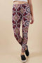 Wine Printed Leggings (6PK)