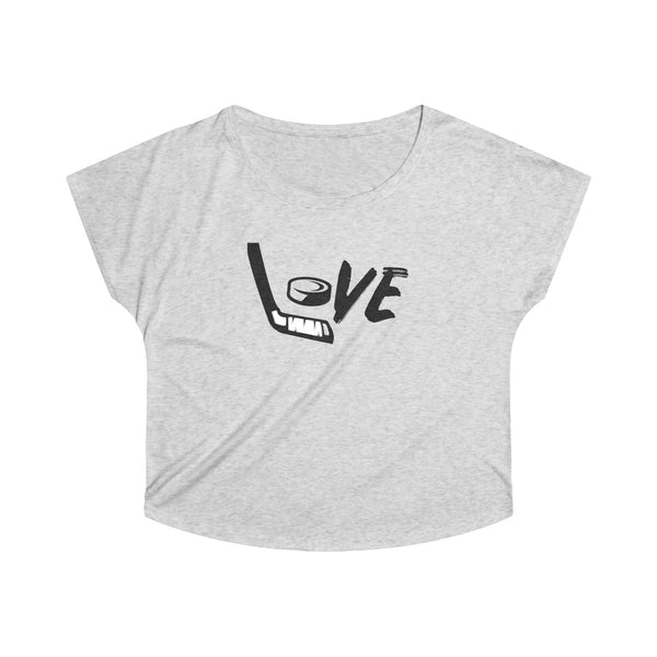 Women's Love Hockey Tri-Blend Dolman