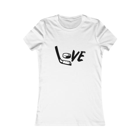 Women's Fit Love Hockey Tee