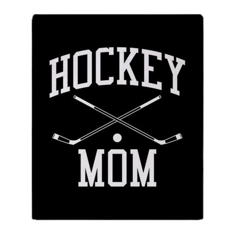 Hockey Mom Soft Fleece Throw Blanket