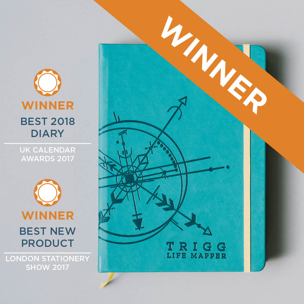 "Trigg wins ""Best 2018 Diary"" at the UK Calendar Awards, London"