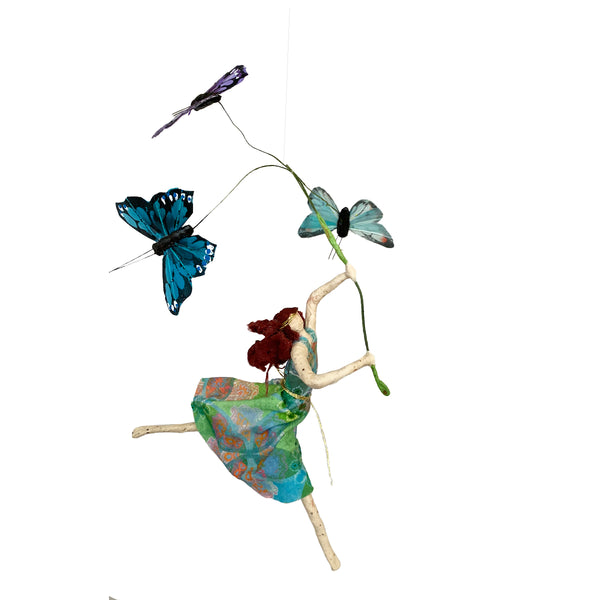 Leaping Luna with Butterflies