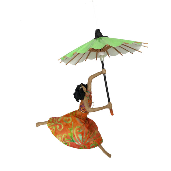 Kylia with her Apple Green Umbrella