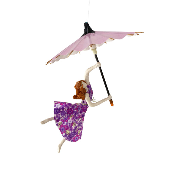 Ginger with Pink Umbrella