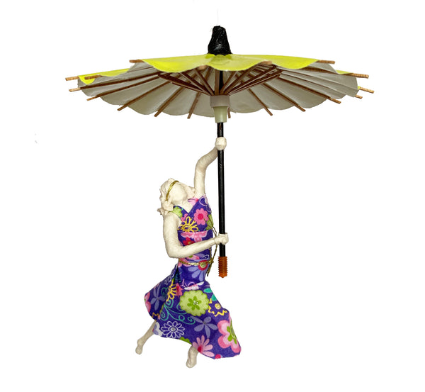 Isadora with Apple Green Umbrella