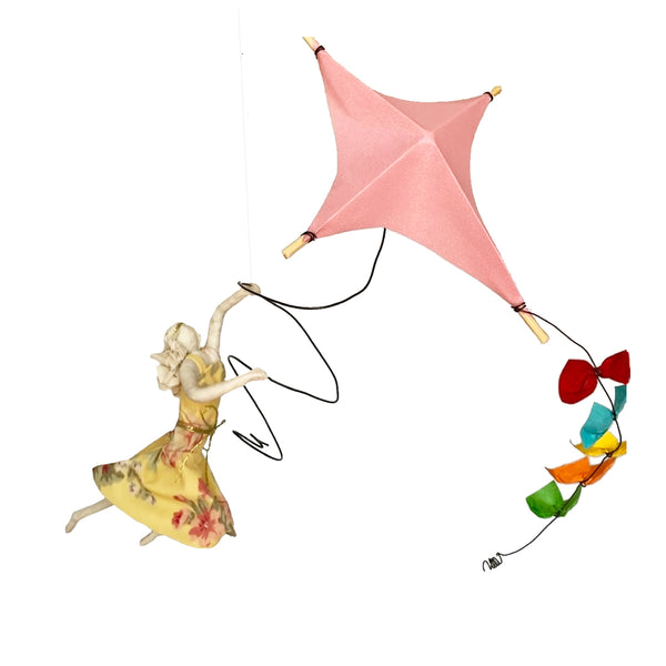 Isadora with Bright Pink Kite