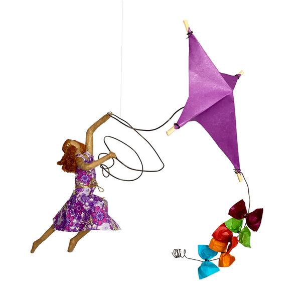 Ginger with her Purple  Kite