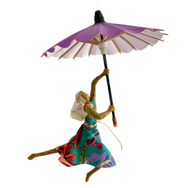 May Lee with Purple  Umbrella