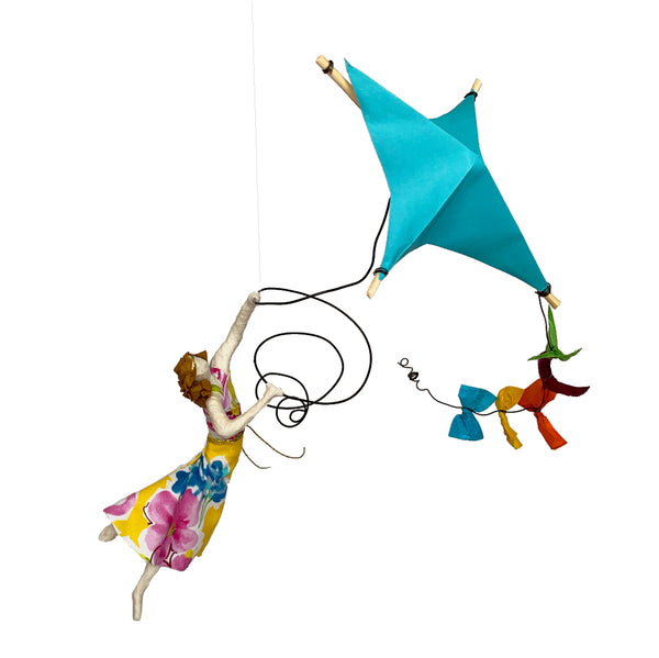Renata Flying her Turquoise Kite