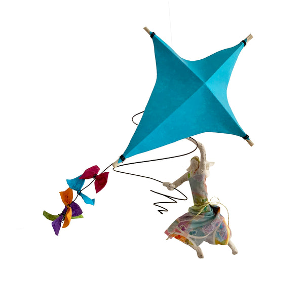 Iris with her Turquoise Kite