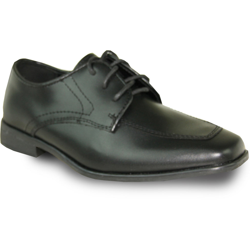 bravo Boy Kid Dress Shoe Oxford or Loafer Square Toe Leather Lining for Uniform and Formal Events