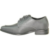 ALLURE MEN Boy AL01KID Dress Shoe Formal Tuxedo for Prom & Wedding and School Uniform Steel Grey