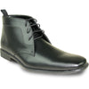 ALLURE MEN Dress Boot AL02 Formal Tuxedo for Prom & Wedding Black - Wide Width Available
