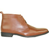 ALLURE MEN Dress Boot AL02 Formal Tuxedo for Prom & Wedding Brown - Wide Width Available