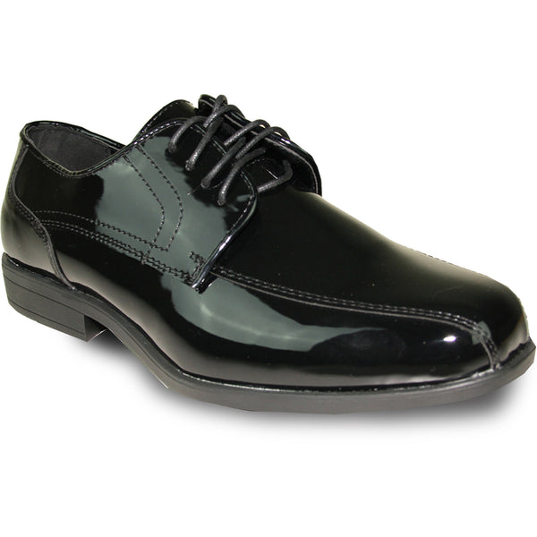 JEAN YVES Men Dress Shoe JY02 Oxford Formal Tuxedo for Prom & Wedding Shoe Black Patent - Wide Width Available