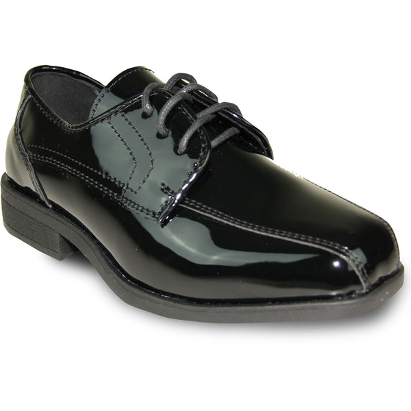 Stanford by Jean Yves Black Matte Oxford Dress Shoes Boys and Youth sizes