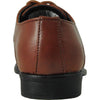 BRAVO Boy Dress Shoe KING-1KID Oxford Shoe Brown