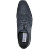 BRAVO Men Dress Shoe KING-3 Wingtip Oxford Shoe Blue - Wide Width Available