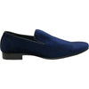BRAVO Men Dress Shoe KLEIN-7 Loafer Shoe Blue Velvet